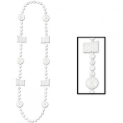 Racing Beads (white) Party Accessory (1 count)