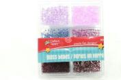 Crafters Square Purple Glass Bead 32 CREATE FUN DESIGN Jewellery Project Make Card