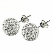Beautiful 925 Sterling Silver Ball Stud Sterling Silver Stud Earrings 10mm Each Size By U-Beauty