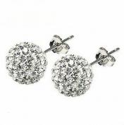 Beautiful 925 Sterling Silver Ball Stud Sterling Silver Stud Earrings 10mm Each Size By U-Beauty