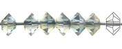 3x5mm Crystal Oceanic 2tone Lustre, Czech MC Spacer Bead (Squished Bicone), 36 pieces