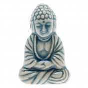 High Fire Ceramic Bead - Tibet Sitting Buddha 16x23mm