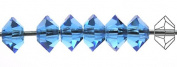 3x5mm Sapphire, Czech MC Spacer Bead (Squished Bicone), 36 pieces