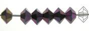 3x5mm Jet Purple Iris, Czech MC Spacer Bead (Squished Bicone), 36 pieces