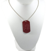 Dog Tag Crimson Marauders Map Necklace 80cm Chain