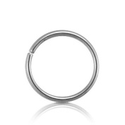 "6/16 or 8mm Merdium Size sterilised SR PLATED SEAMLESS BEADLESS 20G Tiny NOSE HOOP 1/4"" Diameter."