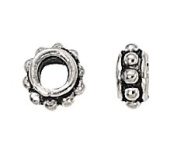 6mm Sterling Silver Bali Bead Flat - Pack Of 2