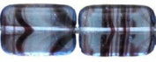 Czech Polished Rectangle Table Cut Beads 12/8mm HurriCane Glass - Light Sapphire/Amethyst