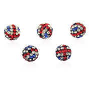 Duman Roll Over Image to Zoom in Share Your Own Customer Images 10mm Crystal Ball Shamballa Inspired Beads, Uk Flag