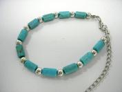 LeRoux 7824 Faux Turquoise Bead Bracelet
