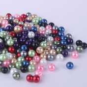 WM KING 200pcs Mix Satin Lustre Glass Pearl Round Beads 6mm ~Loose Beads~Over 20colors