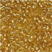Toho 11/0 Japanese Glass Seed Beads - Silver Lined Topaz