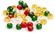Beaders Paradise LT6EMIX19 Czech Glass Christmas Mix 6/0 E-Beads in a Tube