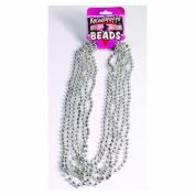 Bachelorette Outta' Control Silver Metallic Bead Necklaces - 6 Sets