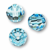 10 Round 4mm (5000. Crystal Beads AQUAMARINE.