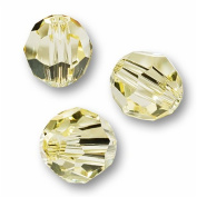 10 Round 4mm (5000. Crystal Beads JONQUIL.