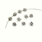 Flower Leaf Bali Style Antique Tibetan Silver Findings Jewellery Making DIY Spacer Beads