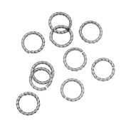 Nunn Design Antiqued Silver Plated Open Jump Rings Twist 8.5mm 17 Gauge