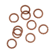 Nunn Design Antiqued Copper Plated Open Jump Rings Twist 8.5mm 17 Gauge