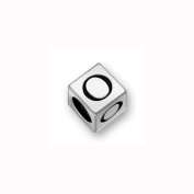 Charm Factory Pewter 7mm Alphabet Letter O Bead