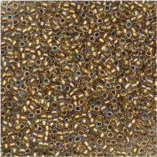 Toho Round Seed Beads 15/0 #262 'Crystal/Gold Lined' 8g