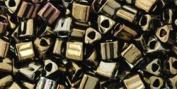 Metallic Iris Brown TOHO Seed Beads TRIANGLE 8/0