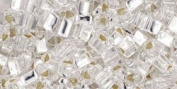 Silver-Lined Crystal TOHO Seed Beads TRIANGLE 8/0