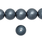 1 Strand Dark Grey Glass Pearl Spacer Round Loose Beads Fit Necklace Bracelets Wholesale 8x8x8mm 110pcs GP0003-29