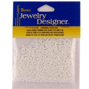 Opaque Rainbow Seed Beads, White AB, 20 Gramme Pkg