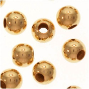 3mm Gold Filled Round Beads Smooth Seamless