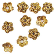 11X4MM GOLD PLATED BEAD CAP AA830 #9 - PK/25