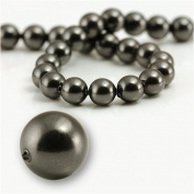 "5 pcs Round Pearl 12mm. BLACK"" 5810 Crystal Pearl."
