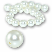 "5 pcs Round Pearl 12mm. CREAM"" 5810 Crystal Pearl."