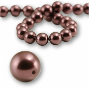 "5 pcs Round Pearl 12mm. BURGUNDY"" 5810 Crystal Pearl."