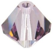 Bead Treasures. Bicone Crystallised Beads (8mm), Light Amethyst