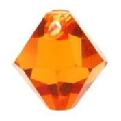 . Crystal Elements Bi-Cone top drilled 8mm topaz