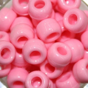 Pony Beads, Opaque Pink, 480pc Pkg