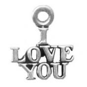I Love You Word Phase Charm