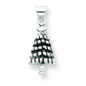 Sterling Silver Antiqued Christmas Tree. Metal Weight- 1.62g.