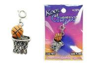 Koolcharmz Basketball and Hoop Dangling Charm