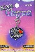 "Koolcharmz ""Be Mine"" w/ Red Heart Dangling Charm"