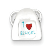 Sterling Silver I Love School, Best Quality Free Gift Box Satisfaction Guaranteed