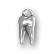 Sterling Silver Tooth Charm with Split Ring #4268