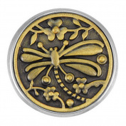 Ginger Snaps BRASS DRAGONFLY SN20-14 Interchangeable Jewellery Snap Accessory