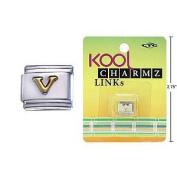 """Kool Charmz Links Letter """"V"""""""