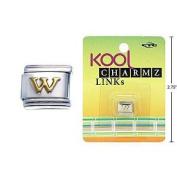 "Kool Charmz Links Letter ""W"""