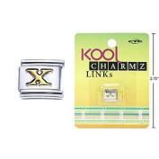 "Kool Charmz Links Letter ""X"""
