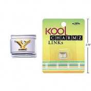 "Kool Charmz Links Letter ""Y"""