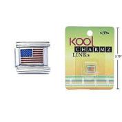 Kool Dangling Charmz Links USA Flag