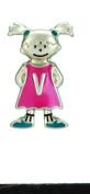 Mini My Kid's Initial Tag - Girl - V